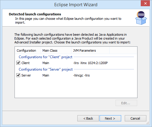 Eclipse Workspace Import