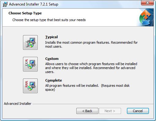 Advanced Installer - Screenshots