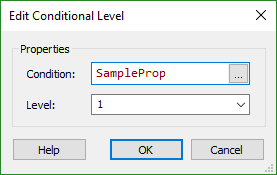 Edit Conditional Level Dialog