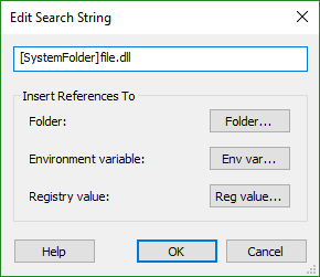 Edit Search String Dialog
