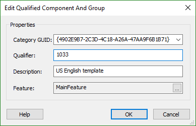 Edit Qualified Components Dialog