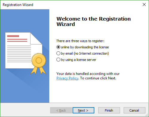 Registration Wizard