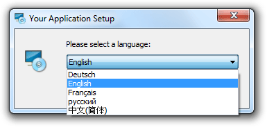 Select installation language.