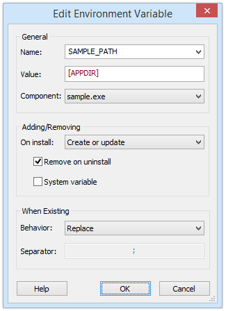 Edit Environment Variable