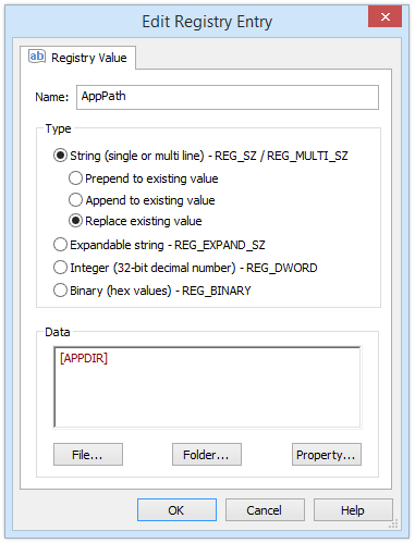 Edit Registry Entry